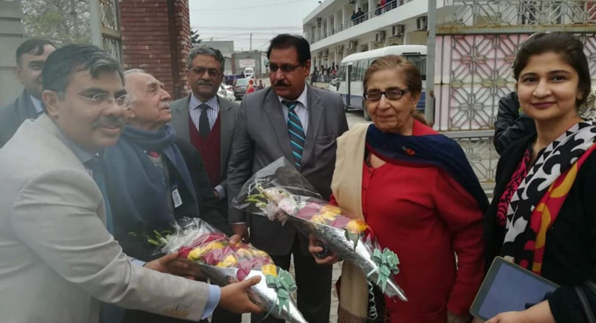Prof-Dr.-Mahmood-Ali-Malik-and-renowned-Gynaecologist-prof-Dr.-Rehana-Malik-in-Pak-Red-Crescent-Medical-&-Dental-College,-Dina-Nath.-T