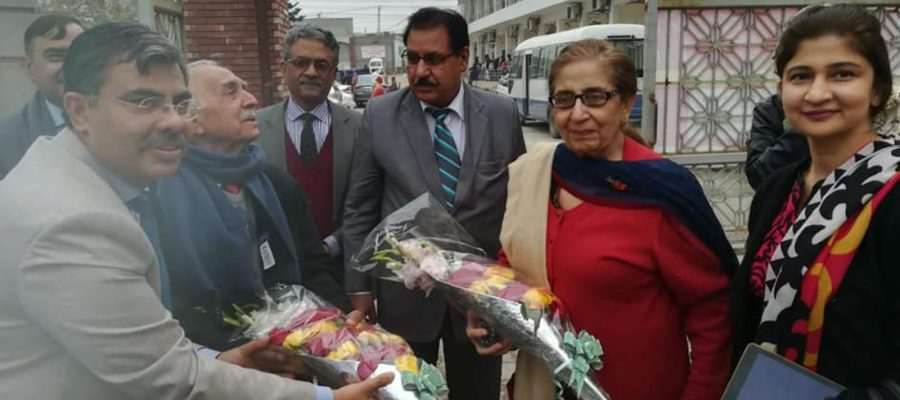 Prof-Dr.-Mahmood-Ali-Malik-and-renowned-Gynaecologist-prof-Dr.-Rehana-Malik-in-Pak-Red-Crescent-Medical-&-Dental-College,-Dina-Nath.-T